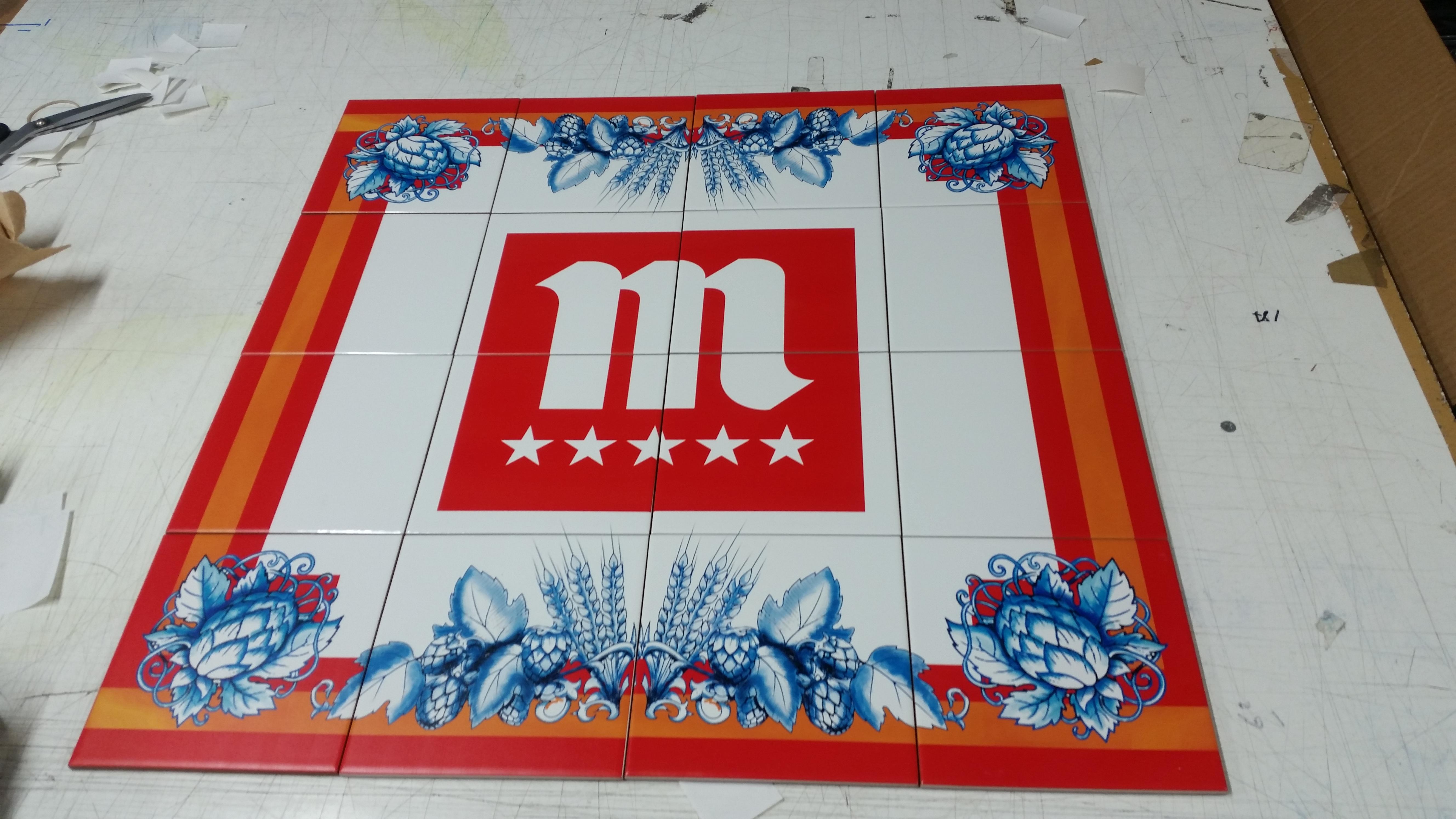 Impresión de azulejos