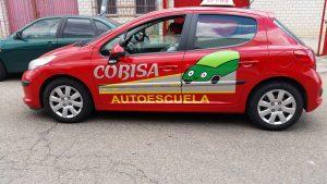 rotulación de coches de autoescuela