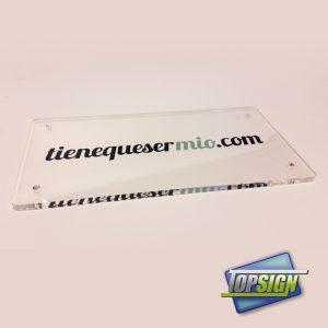 placas de metacrilato personalizadas