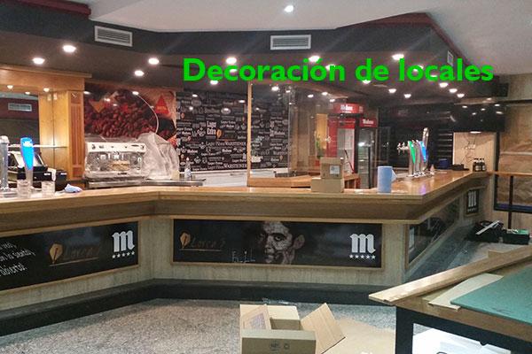 Creación de elementos de decoración para locales y oficinas.