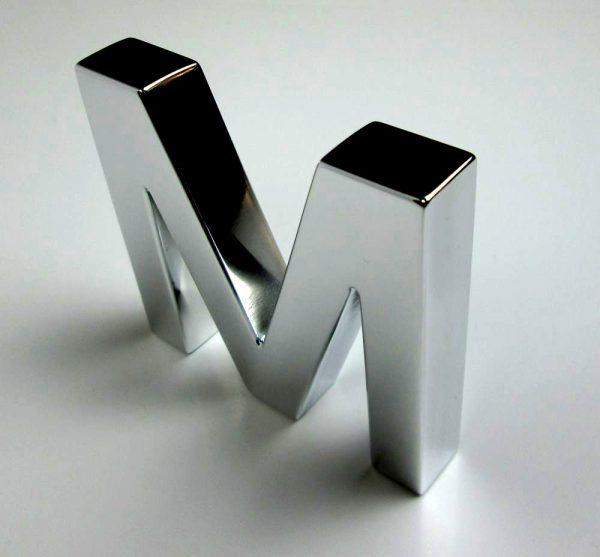 letras de acero inoxidable