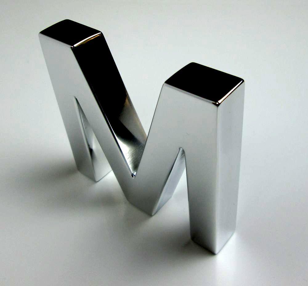 Fabricaci n de letras corp reas de acero inoxidable - Fabricacion letras corporeas ...