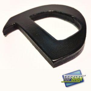 Letras de PVC imitación forja color negro