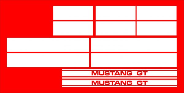 lineas ford mustang