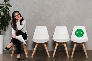 Adhesivo control de distancias para sillas